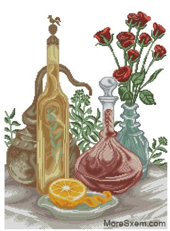Апельсин и розы