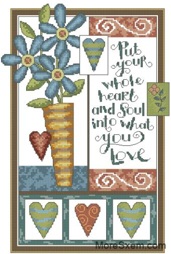 Сердечки и цветочки