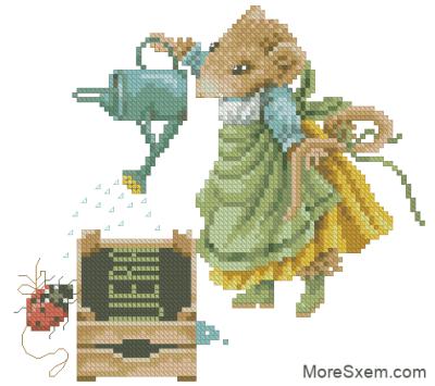 Мышь Вера садовник