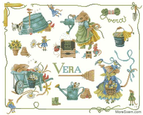 Мышь Вера коллаж