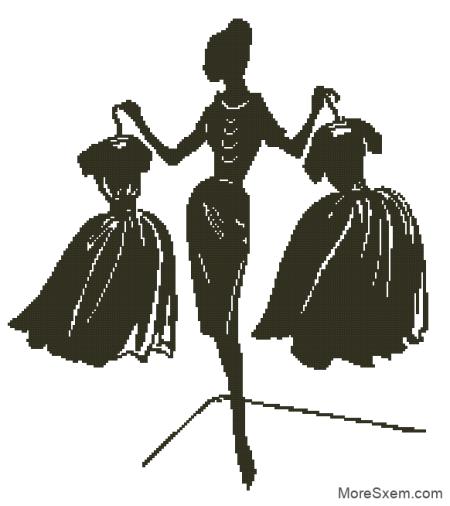 Дама с одеждой