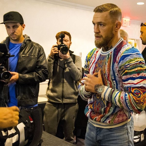 STYLE: UFC STAR Conor Mcgregor Wears COOGI Biggie Smalls Sweater