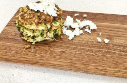 Zucchini Krinos Feta Fritters Recipe