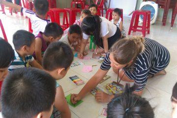 Teaching English to kids in Vietnam