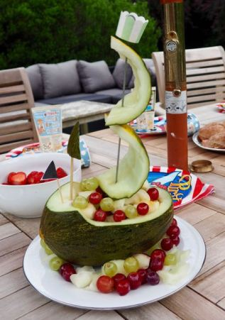 Pirate ship melon by More Than Just Carrots