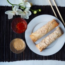 Spring roll with chicken
