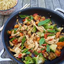 Stir-fry with roasted chicken from More Than Just Carrots