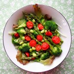 Broccoli sparagus and cherry tomato salad by Severien Vits