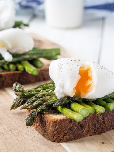 Asparagus on toast by more than just carrots
