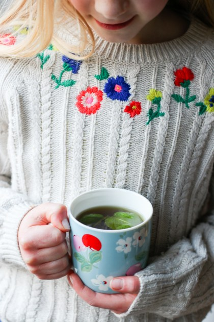 Girl with mint tea from More Than Just Carrots