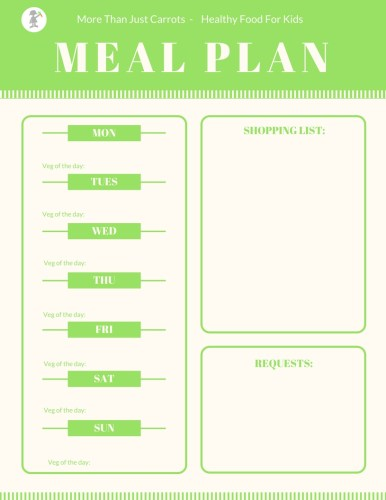 Meal Planning Template For Families With Young Kids  More Than Just