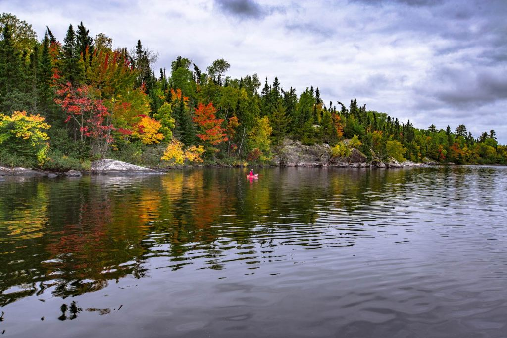 Voyageurs National Park in the fall