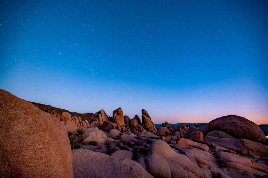 white tank night sky joshua tree national park
