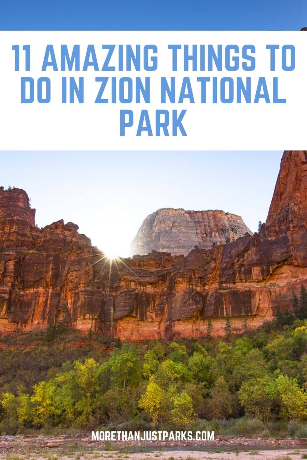 best things to do zion national park