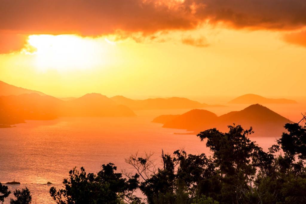 caneel hill trail margaret hill virgin islands national park st john sunset