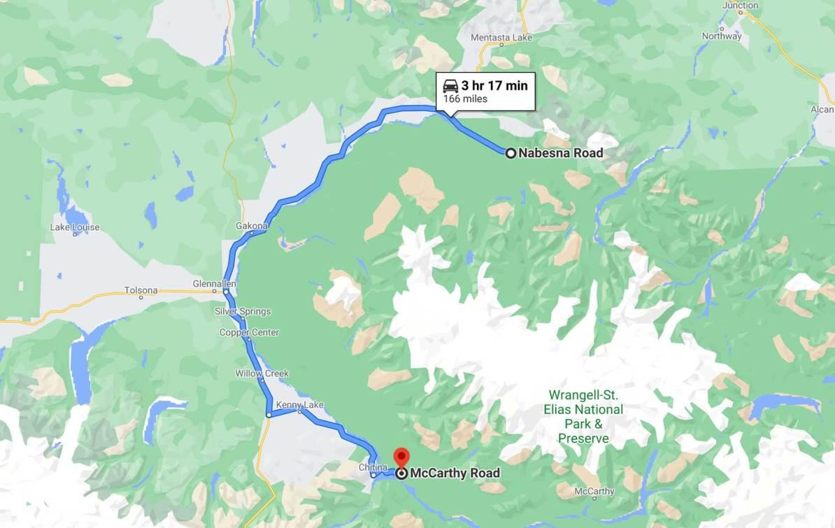 nabesna road to mccarthy road wrangell st elias national park alaska