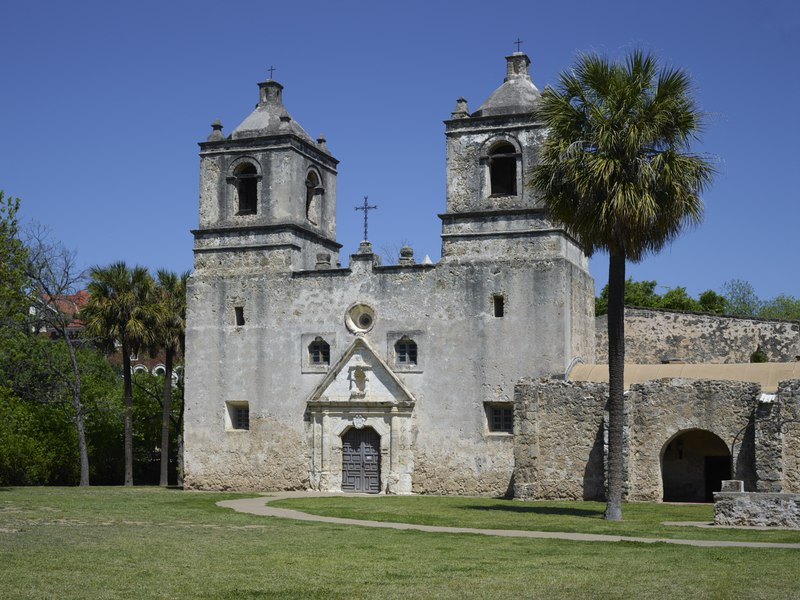Spanish missions were built throughout the New World.
