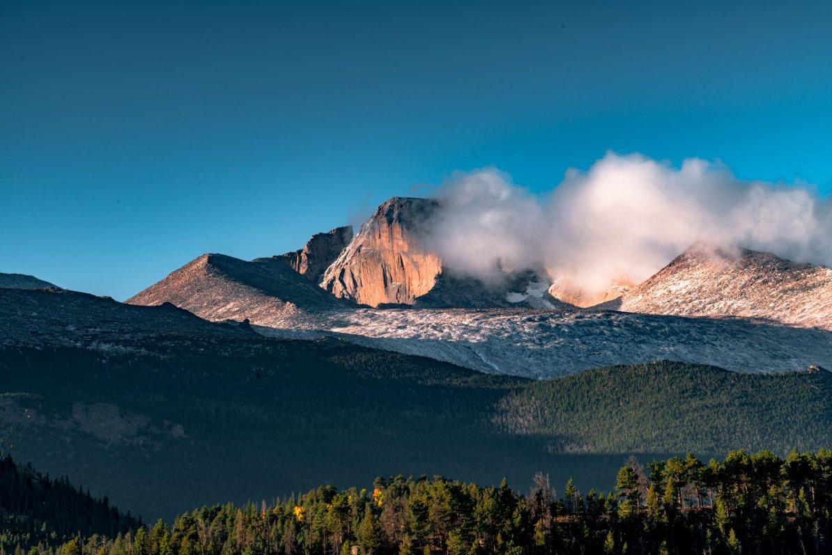 longs peak sunrise rocky mountain national park colorado