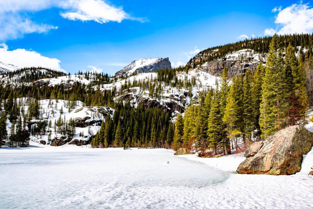rocky mountain national park winter bear lake