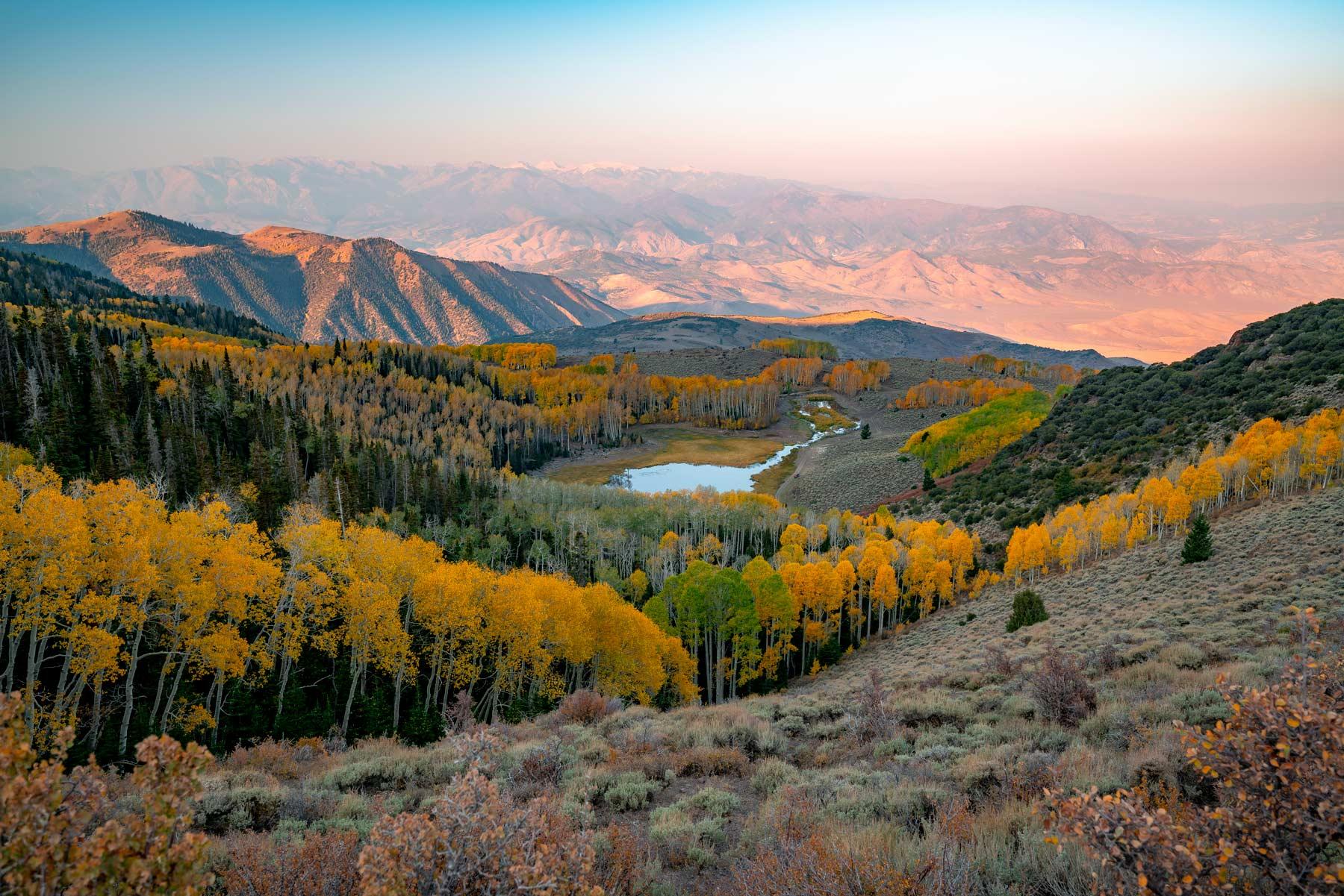 sunrise fishlake national forest utah