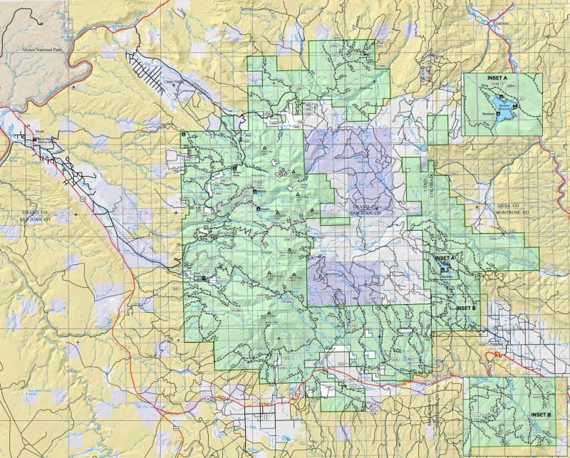manti-la sal national forest map