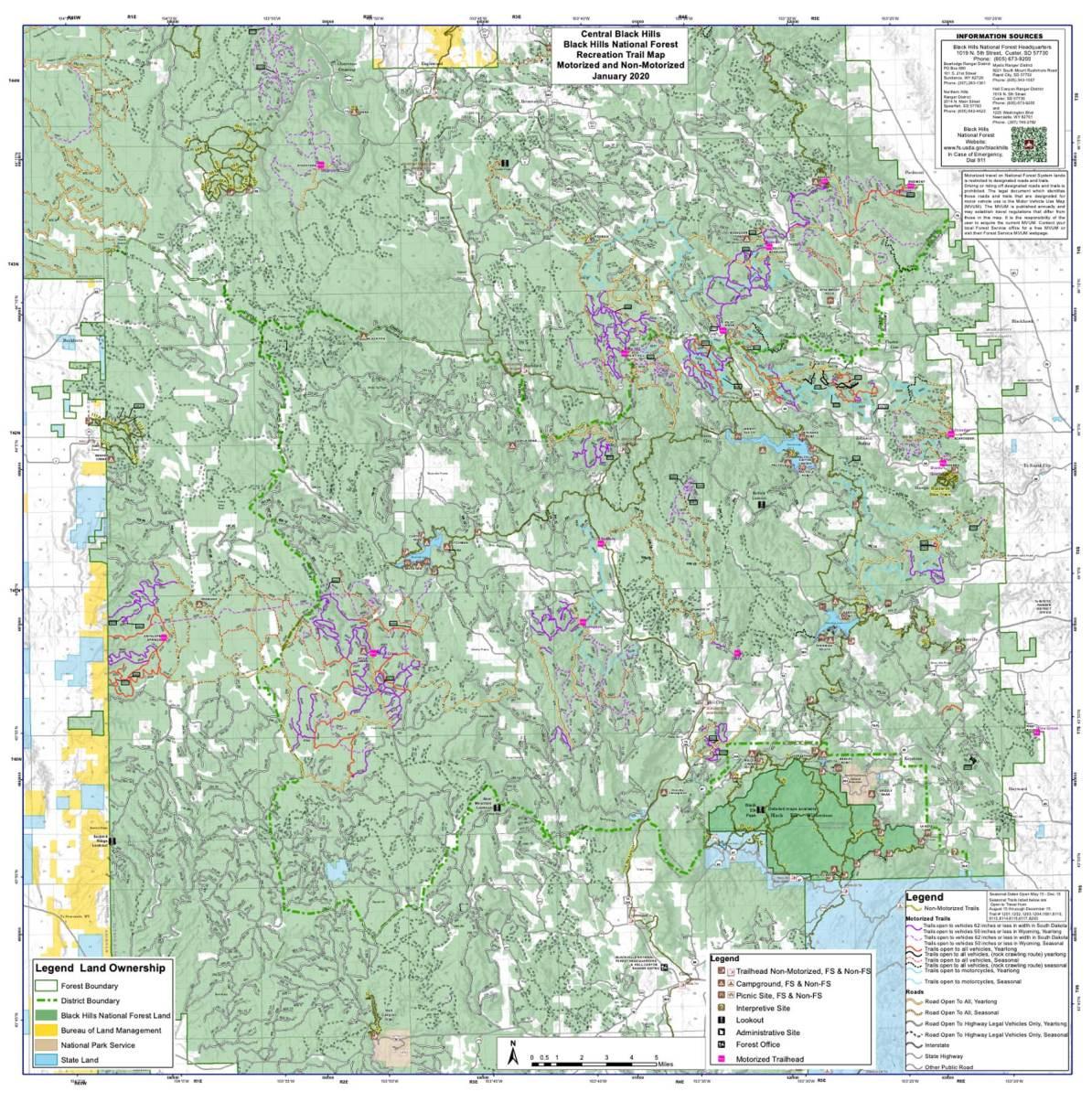 mystic ranger district map