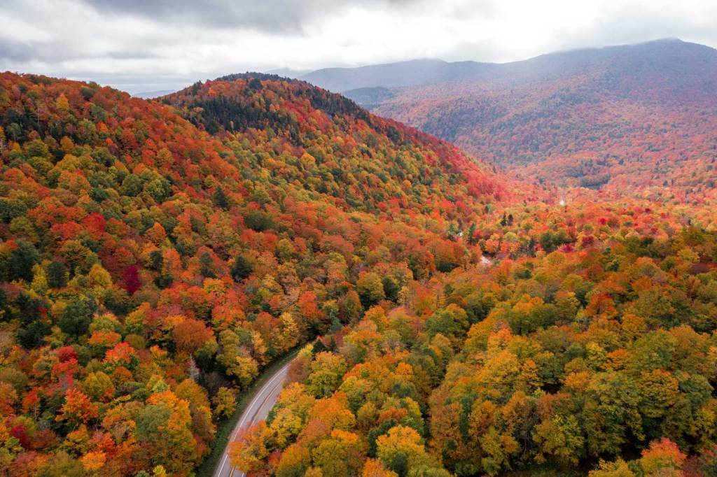 green mountain national forest vermont fall