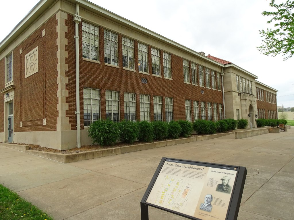 Monroe Elementary School is a national historic site as part of Brown v. Board of Education   Kansas National Parks