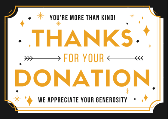 Donation Thank You Letter Samples FREE Printable Cards