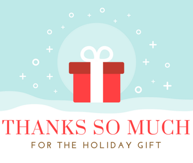 Christmas Thank You Notes Printable Holiday Cards