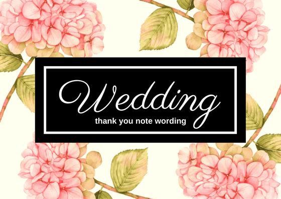 Wedding Gift Thank You Notes
