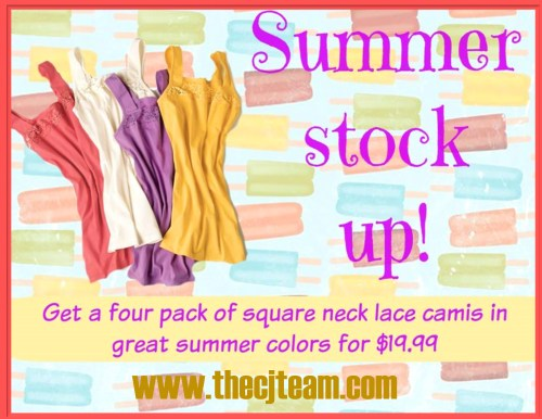 Square Neck Lace Cami Pack