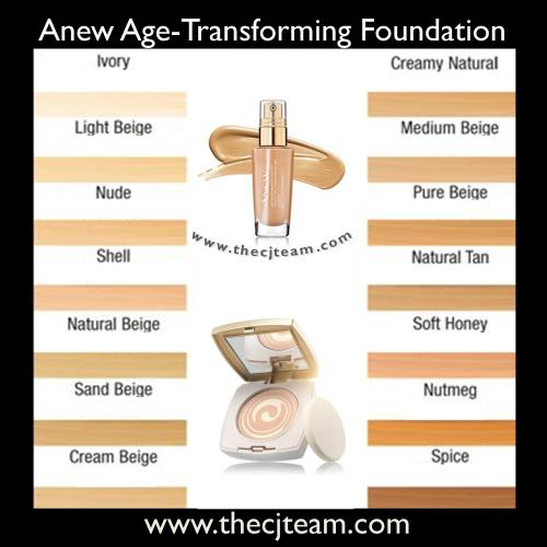 Anew Foundation Color Chart x