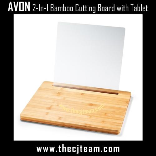 2-In-1 Bamboo Cutting Board with Tablet Holder x