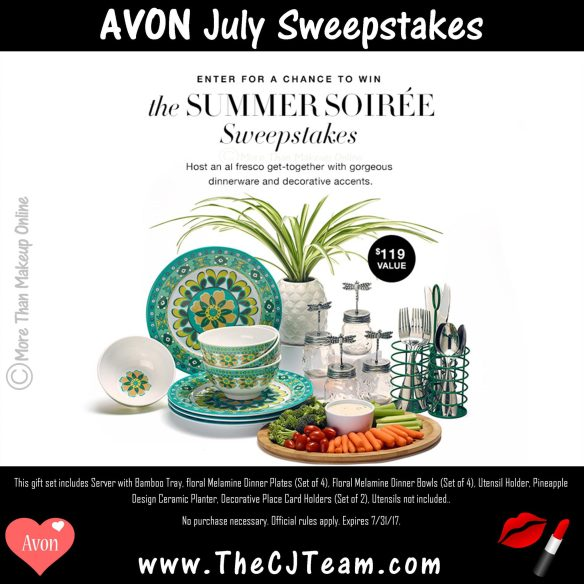 Avon July Sweepstakes - More Than Makeup Online