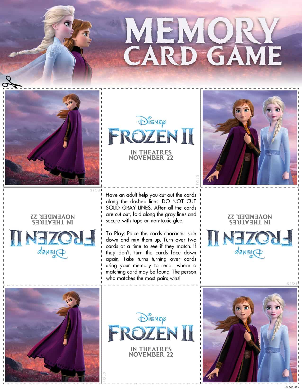 Frozen 2 Family Activity Kit