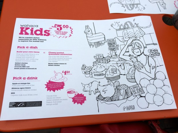 Wahaca Kids menu