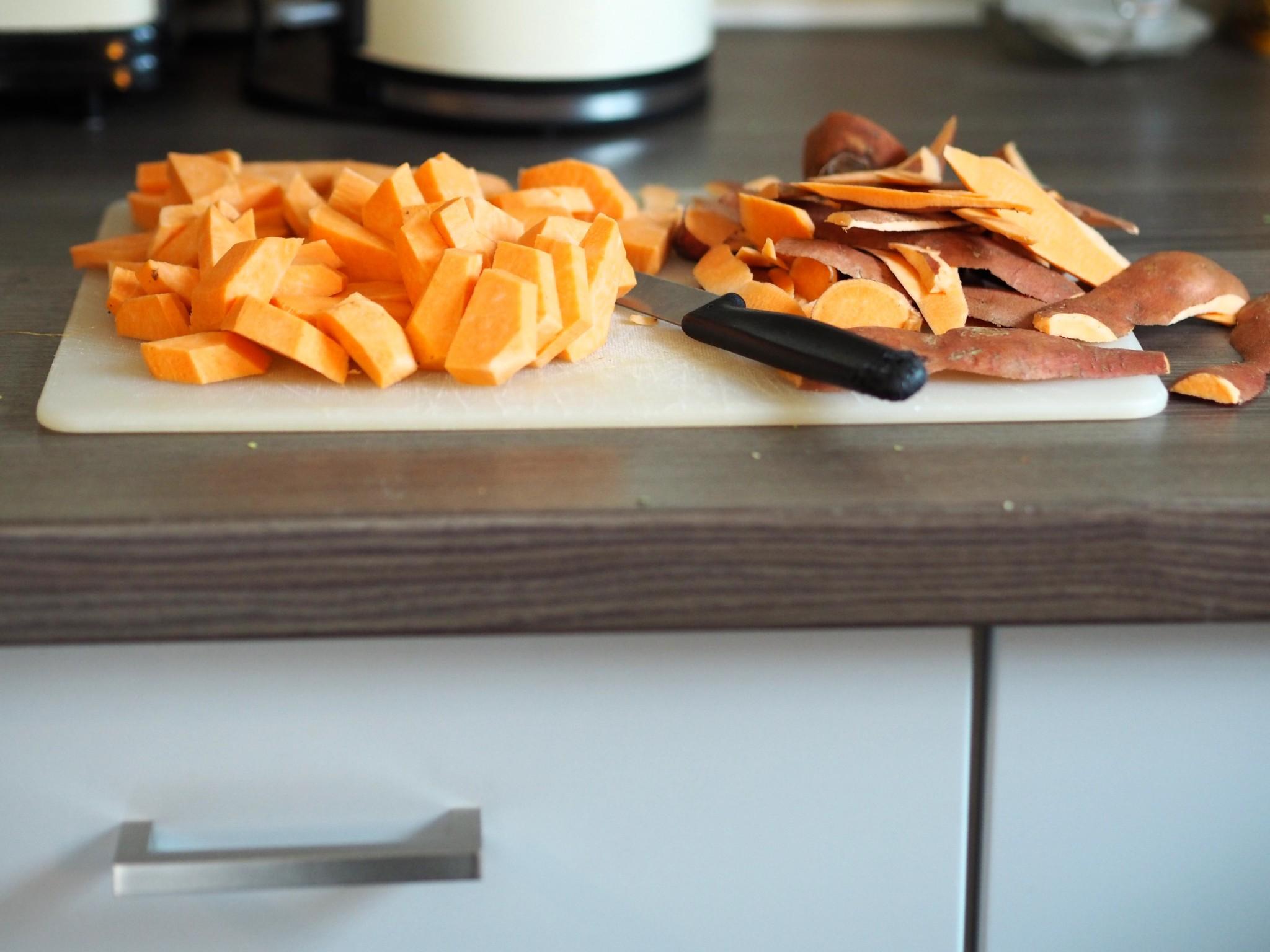 Sweet potato - leftover veg hash