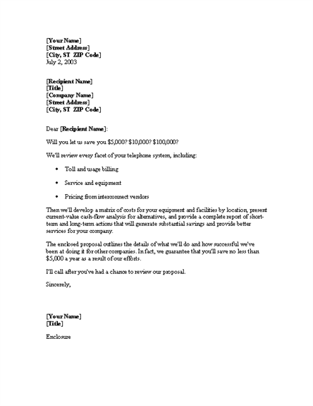 cover letter consulting proposal | Cover Letter Format