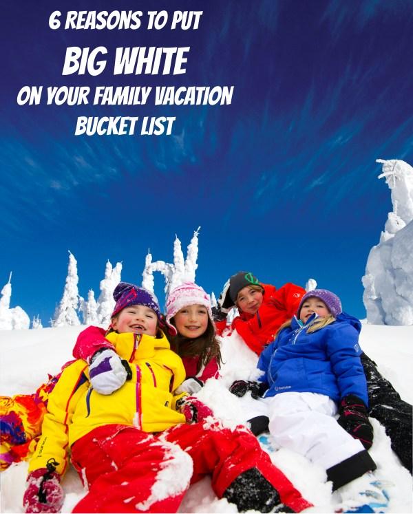 family vacation bucket list