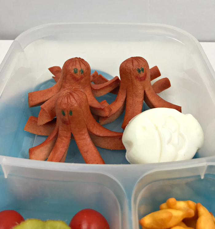 The Octodog Bento Lunch is probably my favourite to make! It's quick and easy, and the kids love it every time!