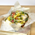 Cod en Papillote with Lemon Mango Salsa