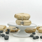 Lemon Glazed Blueberry Mini Doughnuts