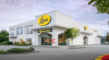 Exterior photo of Leon's Furniture Store in Coquitlam, BC