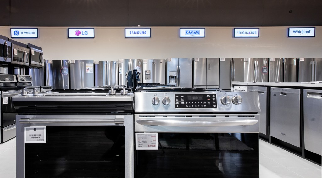Photo of appliances on display at Leon's Furniture