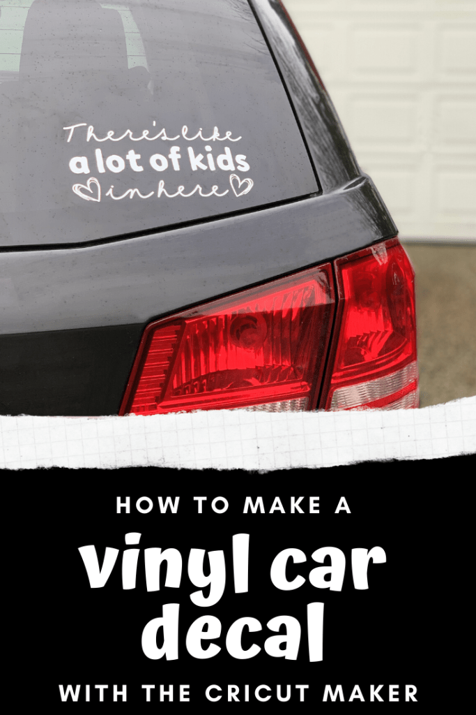 How to make a vinyl car decal with the Cricut Maker