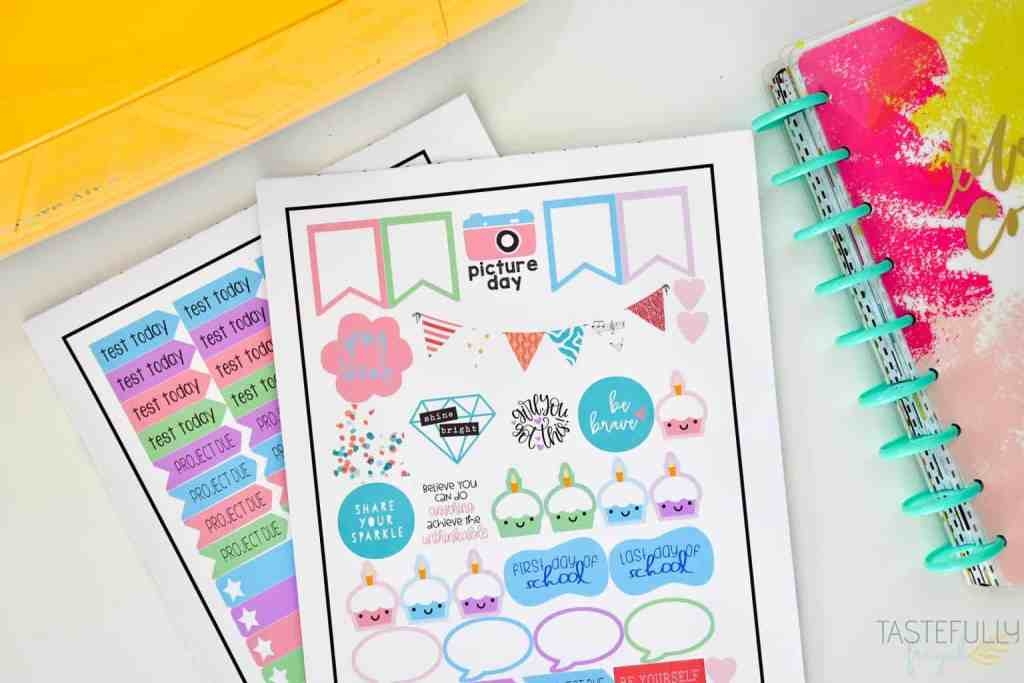Cricut personalized planner stickers
