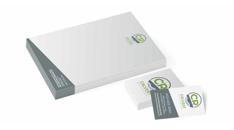 Calvert Restoration Letterhead & Business Cards