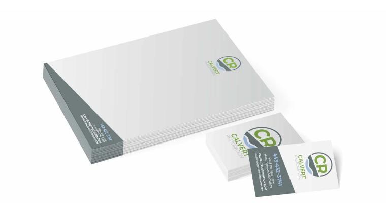 Calvert Restoration Letterhead & Business Cards