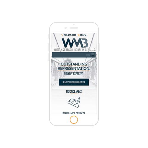 Witt, McGregor, Bourland, PLLC Responsive Website Portfolio